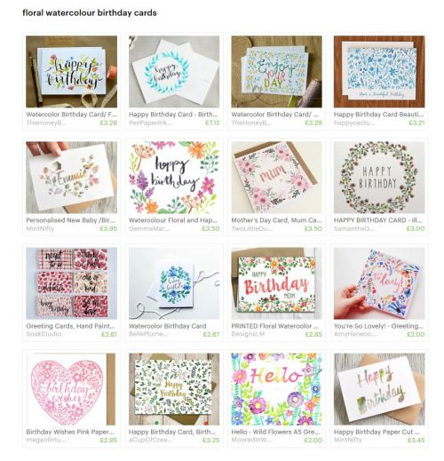 floral cards treasury