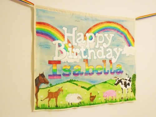 bespoke-rainbow-farm-banner-birthday-banner-sparkly-keepsake-first-birthday